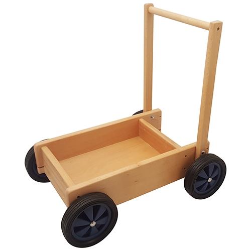 Duwwagen blauw; smalle wielen