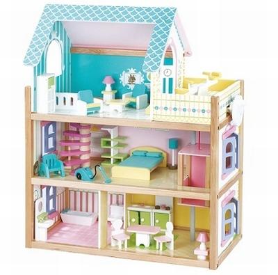 Poppenhuis blauw inclusief meubels; Mentari 3363 N