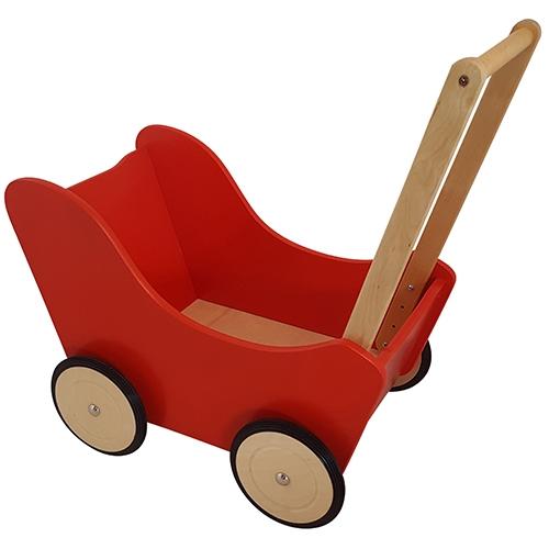 Poppenwagen rood; exclusief dekje