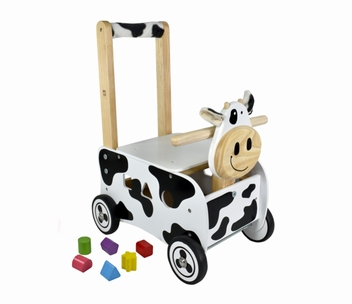Loopwagen koe; I'm Toy 87131