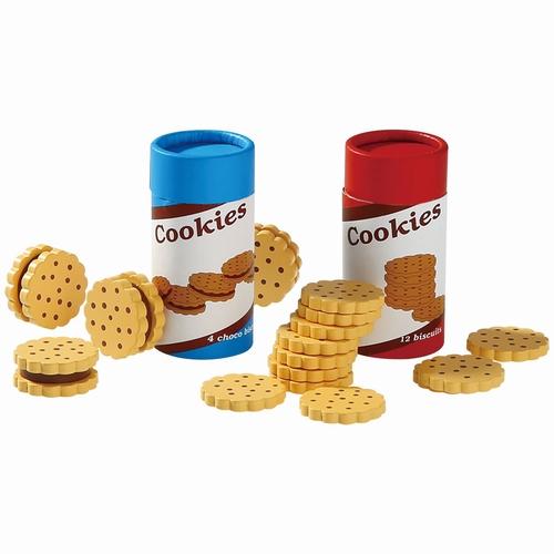 Koekjes en Biscuitjes in een trommeltje; set van 2