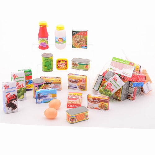 Supermarkt accessoires; 18 delig in netje