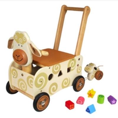 Loopwagen schaap; I'm Toy 87400