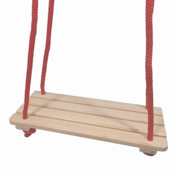 Schommel plank met gekleurd touw; 4 latten