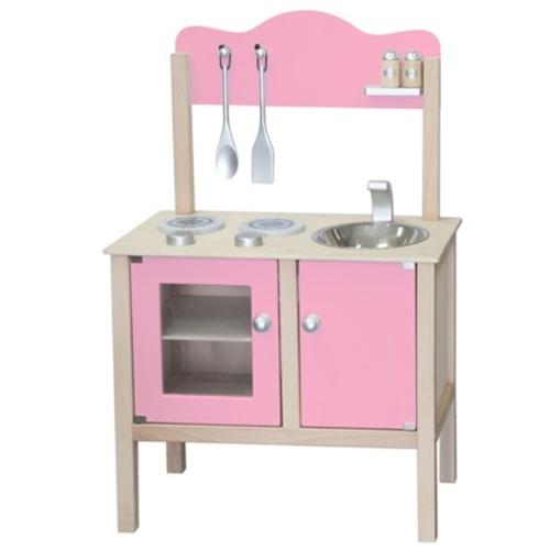 Keuken blank / zacht roze; Bladh: 48 CM