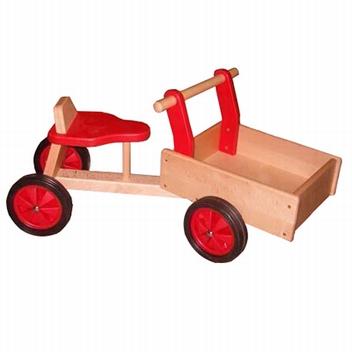 Bak fiets rood; smalle wielen