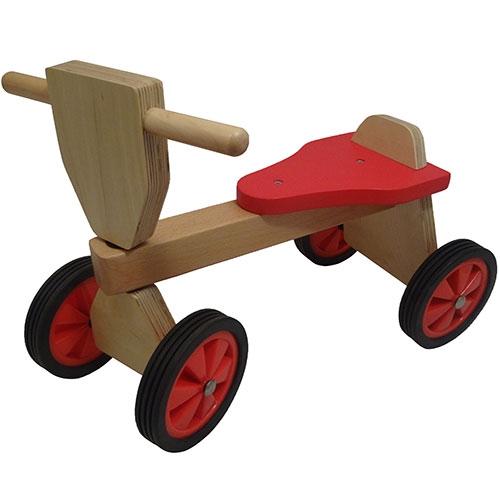Loop fiets rood; smalle wielen