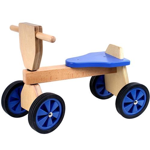 Loop fiets blauw; smalle wielen