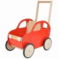 Duwwagen auto rood; Duwh 60 CM