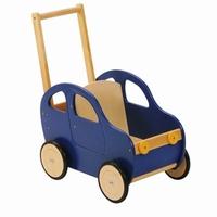 Duwwagen auto blauw; Duwh 60 CM
