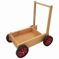 Duwwagen rood; smalle wielen