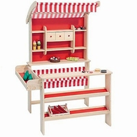Houten winkel rood: excl accessoires