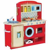 Keuken rood inclusief accessoires; Mentari 3459