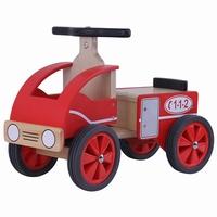 Loopauto brandweer hout; Playwood