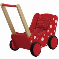 Poppenwagen met stip rood (gv)