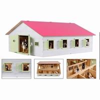 Paardenstal roze met 7 boxen (excl acc); 610189